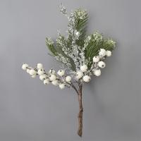 Pic de baies blanches glacées et pin 12''