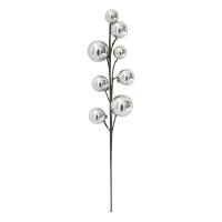 15'' Silver metallic ball pick