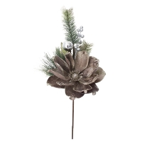 Pic de magnolia gris chaud et sapinage