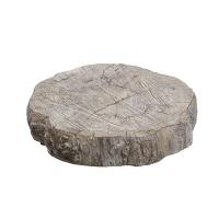 Piedestal bas, imitation bois en ciment 2 x 12 x 12''