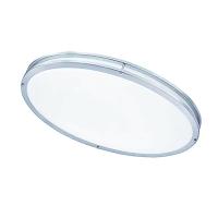 Oval LED Flush-Mount, Satin Chrome Finish