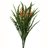 Artificial plant Berries and grass orange & green 14''