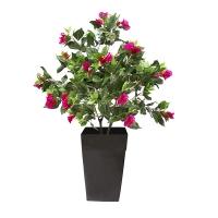 Plante artificielle, bougainvillier extérieur en pot 58''