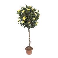 Plante artificielle, hibiscus à fleurs jaunes 5'