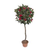 Plante artificielle, hibiscus à fleurs rouges 5'