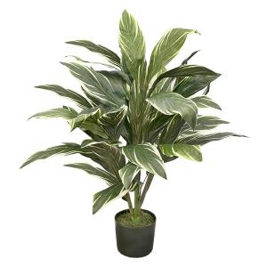Plante artificielle, cordyline deluxe variegata 3'
