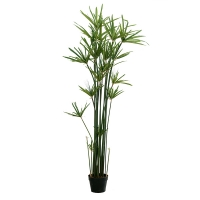 Plante artificielle, papyrus en pot 5'