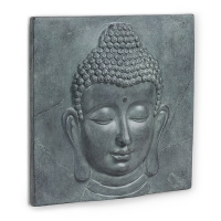 Plaque de ciment murale tête de bouddha 15 x 15''