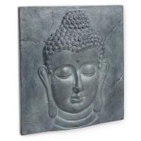 Plaque de ciment murale tête de bouddha 20 x 20''