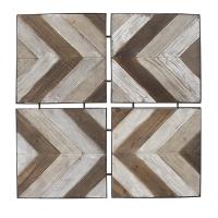 Tableau, insertions planches de bois 33 x 33 x 1,2''