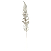 Platinum Glitter Feather