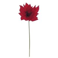 Oversized Red Poinsettia Pick, 9''