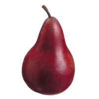 Plastic Red Anjou Pear, 4.5''