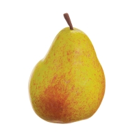 Plastic Yellow Pear, 3.5''