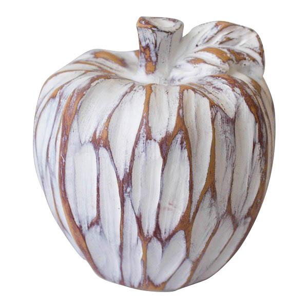 pomme d corative blanche effet bois vieilli d cors v ronneau. Black Bedroom Furniture Sets. Home Design Ideas