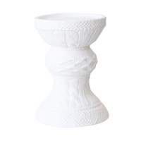 White candle holder 6.75''