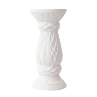 White candle holder 9''