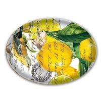 Glass soap dish lemon