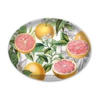 Pink grapefruit glass soap dish