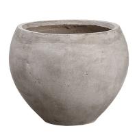 Pot gris arrondi 10 x 12,5''