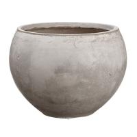 Pot gris arrondi, 12,5 x 17''