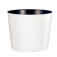 White Plastic Pot, 7''