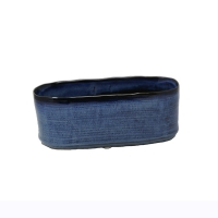 Blue Oval Planter, 4.25''