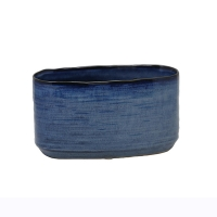 Blue Oval Planter, 5.5''