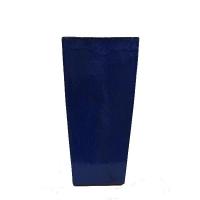 Pot bleu en terre cuite céramiqué 17 x 17 x 30,3''