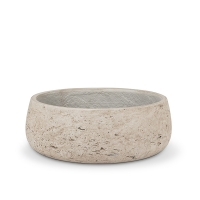 9,5'' Small cement low bowl planter