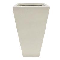 Off white square fiberglass planter 16 x 16 x 36,5''