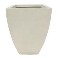 Off white tapered fiberglass planter 16,5 x 16,5 x 23''