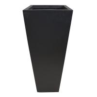 Black square fiberglass planter 16 x 16 x 36,5''
