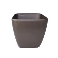 Pot carré en plastique brun, int./ext. 14''