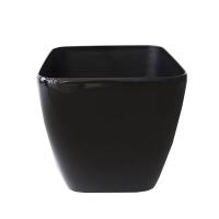 Pot carré en plastique noir, int./ext. 14''