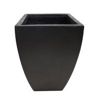 Grey tapered fiberglass planter 14 x 14 x 20''