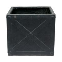 Square Grey Pot, 12,5 x 14''