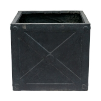 Square Grey Pot, 20 x 21''
