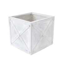 Pot carré gris, 8 x 9''
