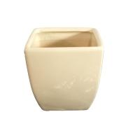 Vase carré ivoire 5x5x6