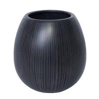 Pot en céramique de couleur noir et crème 8x85''