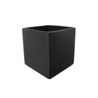 Pot cubique en céramique noir mat 5 x 5 x 5''