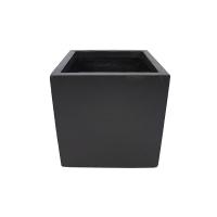 Pot cubique en fibre de verre noir 11 x 11 x 11''