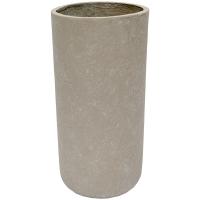 Grey Cylinder Cement Pot, 20 x 10''