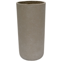 Grey Cylinder Cement Pot, 24 x 12''