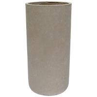 Grey Cylinder Cement Pot, 28 x 14''