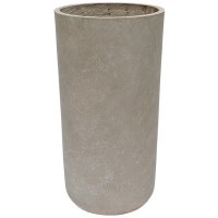Grey Cylinder Cement Pot, 30 x 16''