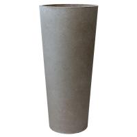 Pot gris évasé, 36 x 16,5''