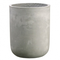 Pot cylindrique en ciment 15,5 x 12''