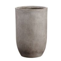 Pot cylindrique en ciment 16,5 x 11''